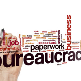 Bureaucracy word cloud concept